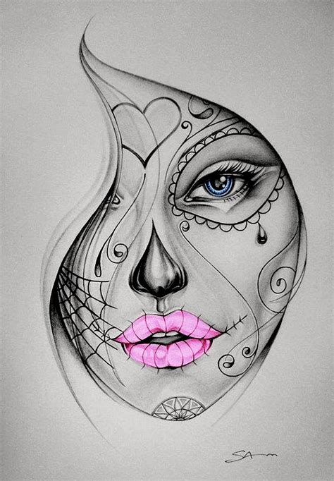 girl sugar skull tattoo skull colour proiecte de 238 ncercat
