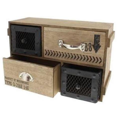boite a tiroir en bois petit meuble industriel achat vente petit meuble