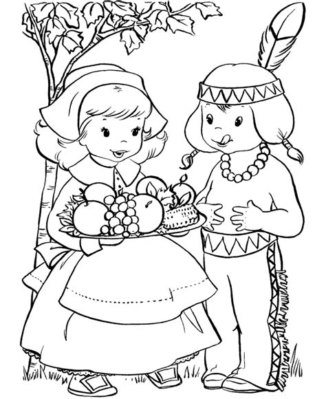 free printable pilgrim coloring pages for kids best
