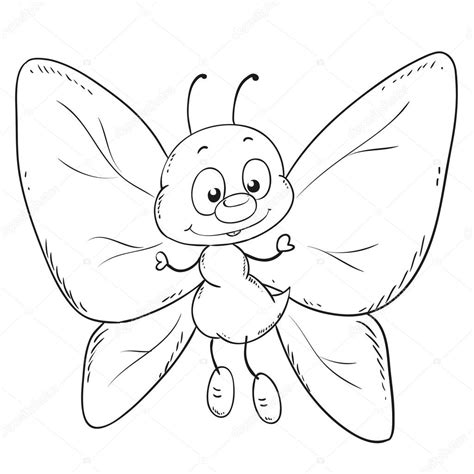 Black And White Cartoon Butterfly Www Imgkid Com The