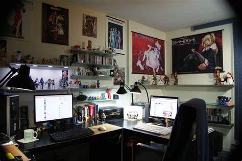cool workspaces workspaces of figurine comic manga enthusiasts