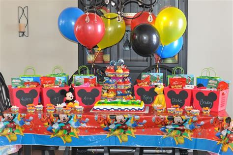 Mickey Mouse Clubhouse Birthday Giveaways - pin by char chris young on birthdays pinterest