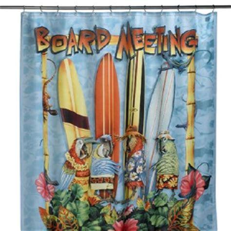 surf board shower curtain parrot macaw hawaii surf board meeting shower curtain ebay