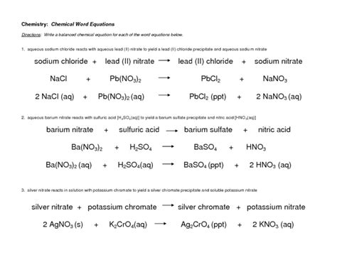 chemical word equations lesson plan for 10th higher ed lesson planet