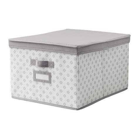 Ikea Variera Kotak Putih 34x24 Cm svira kotak dengan penutup 39x48x28 cm abu abu putih bunga ikea