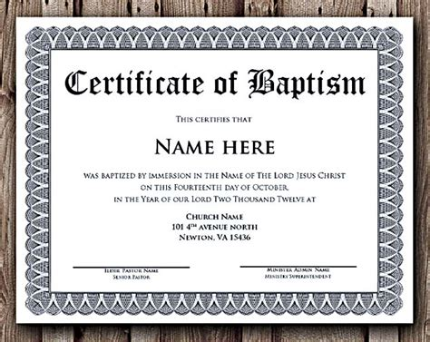 templates for award certificates in word baptism certificate word editable template selecting