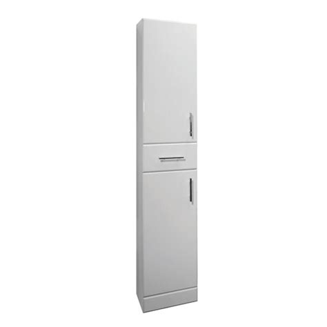 tall bathroom cabinets white gloss premier high gloss white 1900x330mm tall boy cabinet white