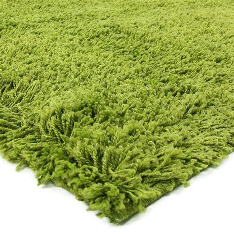 Tapis Rond Vert Anis by Tapis Moelleux 224 Poils Longs Vert 133x190cm
