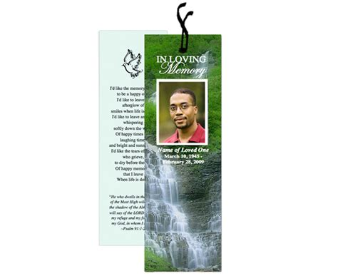 memorial bookmarks template free the funeral program site releases new templates for