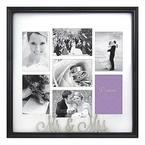 cheap collage photo frames buy occasions mr and mrs 7 photo wedding collage frame