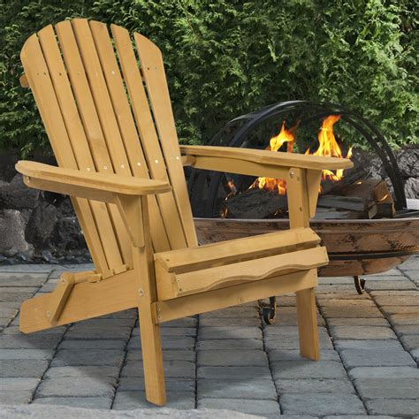 Adirondack Patio Furniture Sets Outdoor Adirondack Wood Chair Foldable Patio Lawn Deck Garden Furniture Ebay