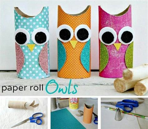 Owl Craft Toilet Paper Roll - paper roll owls crafts