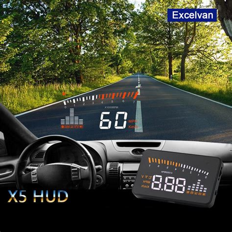 car hud head up display obd ii speed warning system projector fuel tachometer us ebay