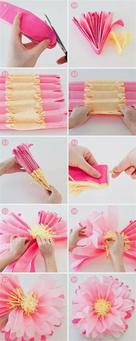 How To Make Tissue Paper Flowers Large - fleurs en papier fleurs fabriqu 233 es en papier and papier