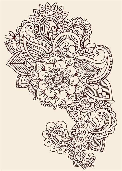 henna style flower tattoos 25 best ideas about paisley design on