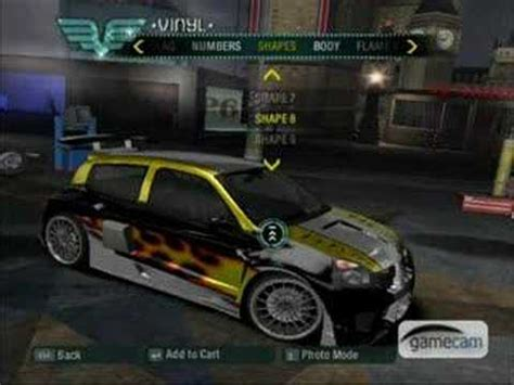 renault clio v6 nfs carbon nfs carbon clio v6 tuning youtube