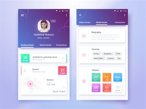 Design Inspiration Apps | 50 user profile page design inspiration muzli design