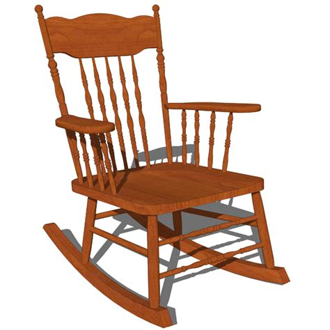 Types Of Antique Chairs Traditional Rocking Chair 3d Model Formfonts 3d Models