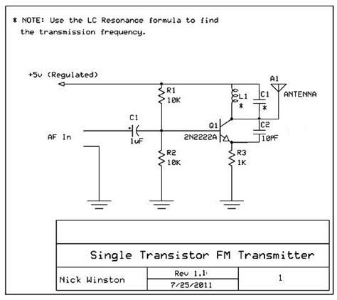 single transistor fm transmitter circuit diagram one transistor fm transmitter 28 images make a 1 5v single transistor fm transmitter fm