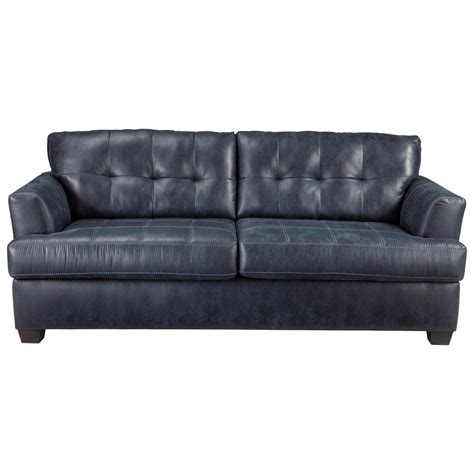 tufted back sofa benchcraft inmon faux leather queen sofa sleeper with