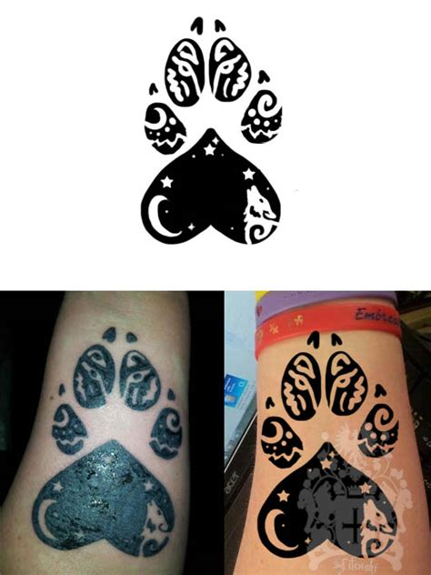 wolf paw tattoo by hitenshi16 on deviantart