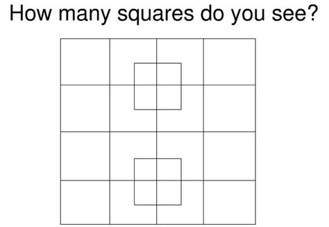 How Many Do You Play At A Baby Shower by Mind How Many Squares Do You See In This