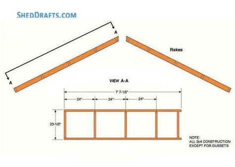 gable garden shed plans blueprints  diy construction