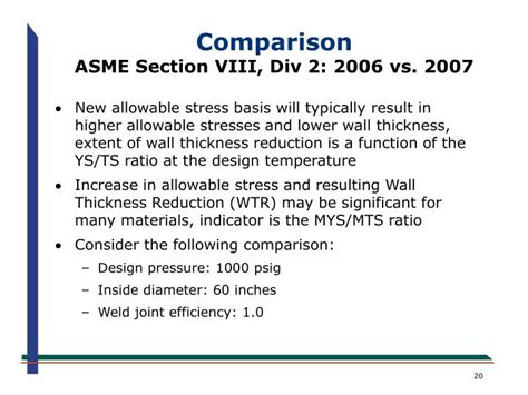 asme code section viii division 1 ppt an overview of the new asme section viii division 2