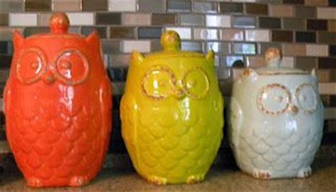 owl canisters for the kitchen owl canister set from kirklands kitchen dinning room