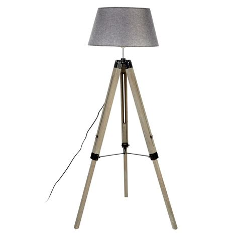 wooden tripod floor l with grey tuscany floor l in grey shade with wooden tripod base