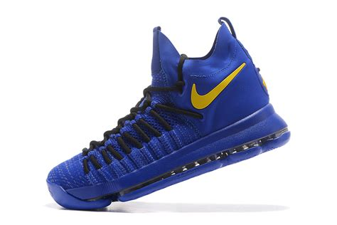 blue and yellow basketball shoes nike air zoom kd 9 elite royal blue yellow basketball
