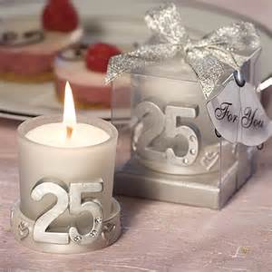 Wedding Anniversary Favors by 25th Anniversary Silver Candle Favors