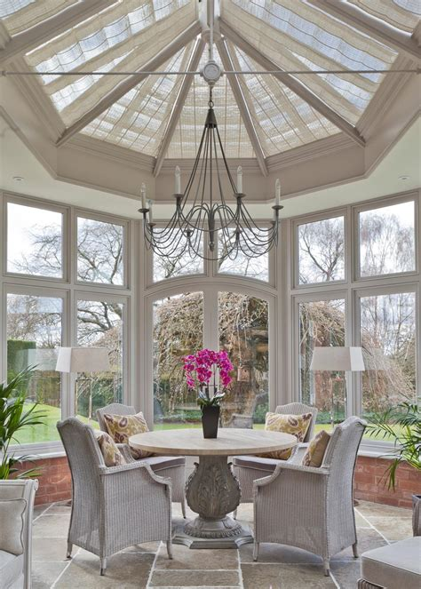 Roof L Shades using your conservatory