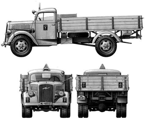 opel blitz car blueprints 1939 opel blitz 3 t 4x2 truck blueprint