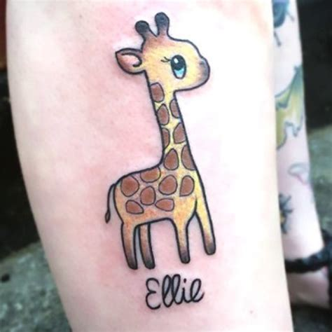 small giraffe tattoo 21 small giraffe ideas for styleoholic