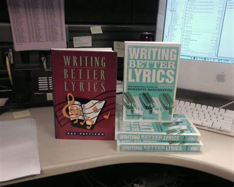 Pdf Writing Better Lyrics Pat Pattison pat pattison writing better lyrics pdf free