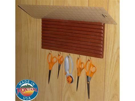 quilting ruler holder wall mounted solid mahogany 10