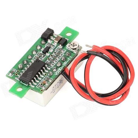 Voltmeter Dc 45v 30v Digital 2 Kabel With Frame Birublue v20d dual wire 0 36 quot led digital voltmeter module w adjustment black white dc 3 0 30v