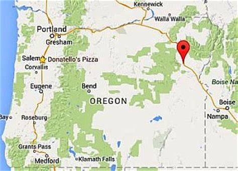 map of oregon baker city investigation of inmate from baker county