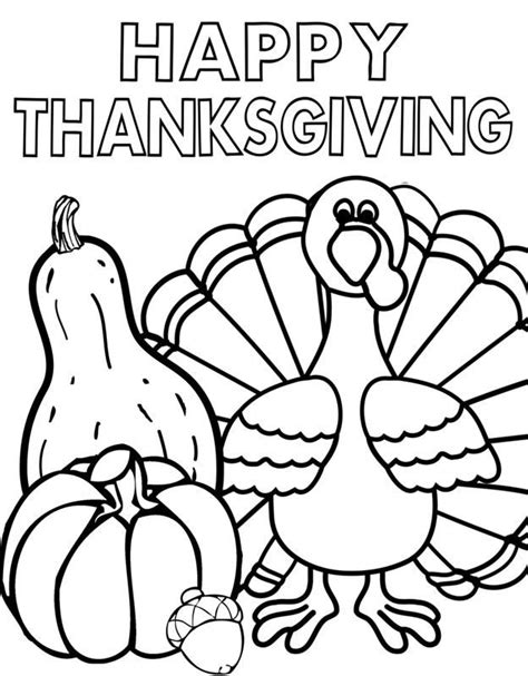 coloring pages for happy happy thanksgiving coloring pages for