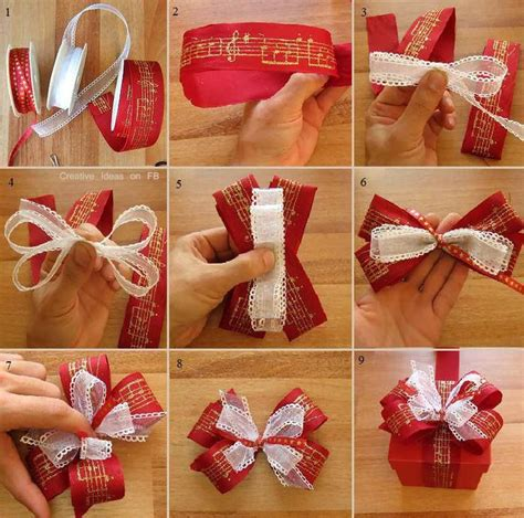how to make bows for top of christmas tree how to wrap a beautiful bow step by step pictures photos and images for