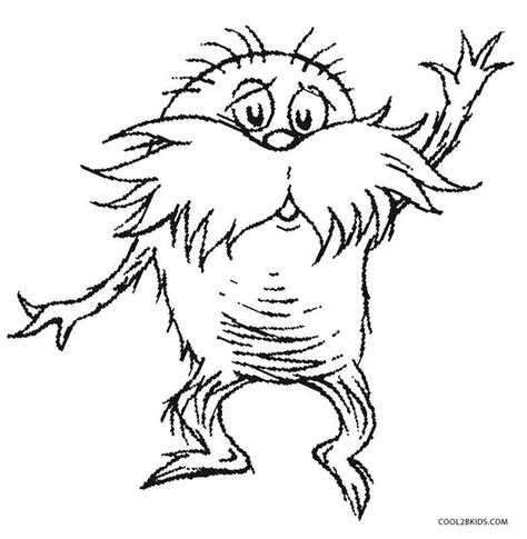 lorax coloring pages printable lorax coloring pages for cool2bkids