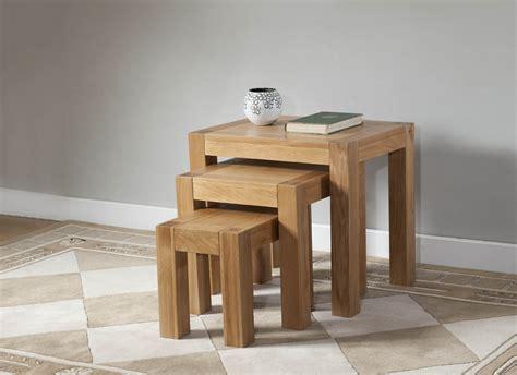 oak nest of tables milano oak nest of tables oak furniture solutions