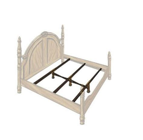 Wood Bed Frame Supports Steel Bed Frame Center Support 3 Rails 3 Adjustable Legs Gs 3xs