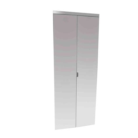 Impact Plus Closet Doors Coupons For Impact Plus Door Polished Edge Mirror Solid Chrome Mdf Interior Bi Fold Closet