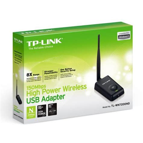150mbps High Power Wireless Usb Adapter Tl Wn7200nd tp link tl wn7200nd 150mbps high power wireless n jar