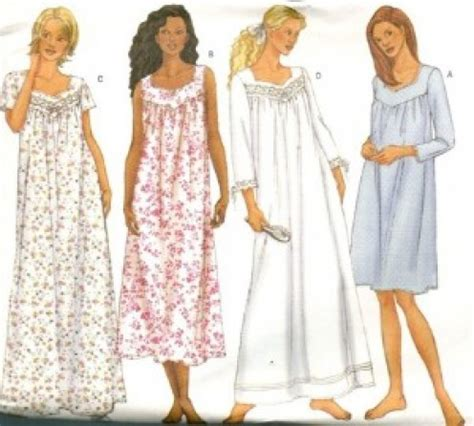 sewing pattern nightie how to sew women nightgown with yoke nighties nightgown
