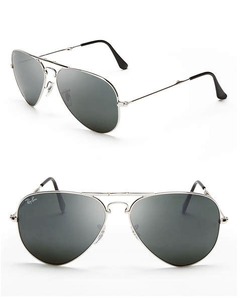 Kacamata Rayban Aviator Silver Mirror Mali4815 lyst ban foldable mirror aviator sunglasses in metallic for