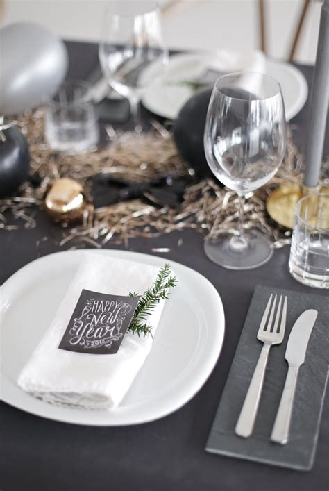 luxury table setting   years eve