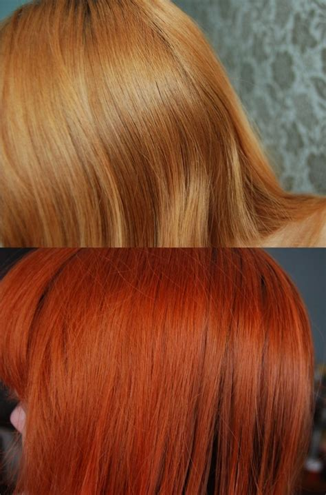 before and after photo of la riche directions hair dye in before and after photo of la riche directions hair dye in